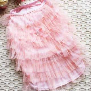 COLOR Luxury Cat Dog clothes Party Wedding Princess Layer skirt