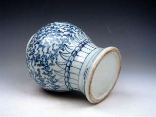 From U.S* Vintage Chinese Blue&White Flowers Hand Painted Ginger Jar