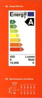 6x 9W Low Energy CFL Mini Spiral Light Bulbs; ES, E27