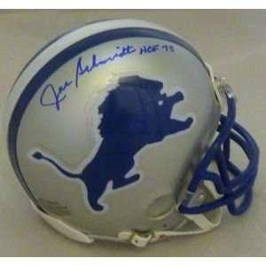 Joe Schmidt Autographed Detroit Lions Mini Helmet w/HOF