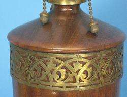 Antique & Rare Signed Pairpoint Wood Lamp Base c. 1920