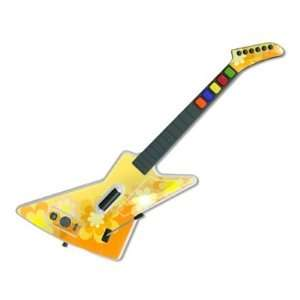 Retro Orange Flowers Design Guitar Hero X plorer Guitar