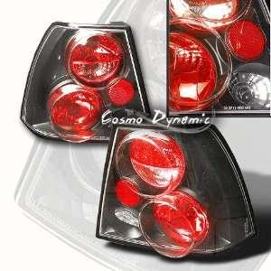 VW Jetta Tail Lights Tail Lights JDM Black   01 VJ9901TLAJM 1999 2000