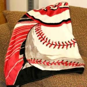 Cincinnati Reds Big Stick Royal Plush Blanket Throw