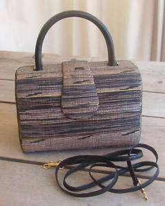 Renee Handbag Purse Black Brown Tan Bag Womens Hard