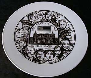 ELLIS ISLAND Destination AMERICA 1892   1992 Collector PLATE Faces