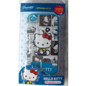 iPhone 4G Hard Cover Back Case ~Black & White Checker Hello Kitty~ #17