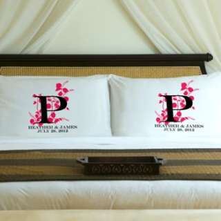 Couples WEDDING PILLOW CASE SET Personalized Pillowcases make