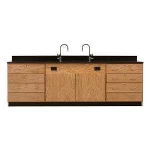 Diversified Woodcrafts 3244K Wall Service Bench W/ Storage