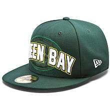 Mens New Era Green Bay Packers Draft 59FIFTY® Structured Fitted Hat