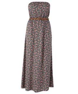 null (Multi Col) Inspire Ria Bandeau Maxi Dress  255175199  New Look
