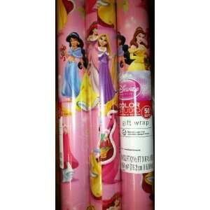 Hallmarks Disney   Princess Christmas Gift Wrap 50 Sq. Ft