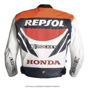 Joe Rocket Honda Repsol Sport Mens Leather Motorcycle Jacket White/Red