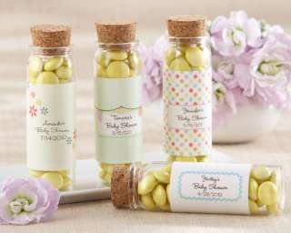 24 Filled with Joy Personalized Baby Shower Favor Jars