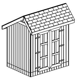roof style salt box size 6 x 8 peak height 125 door opening width 60