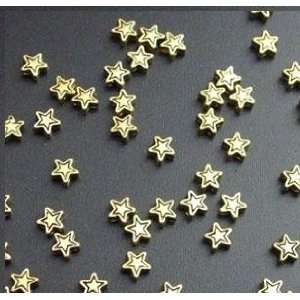 #4713 5mm Gold star beads Antique Gold Lead Safe Pewter