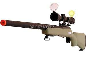 450FPS Bolt Action Airsoft Sniper Rifle w/Scope 700 GN