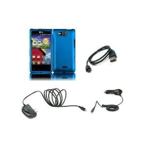 LG Lucid (Verizon) Premium Combo Pack   Blue Hard Shield