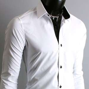 Youlookcool Herren Japan Style Slim Fit Designer Shirt Party Club Hemd