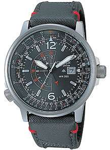 Citizen Men Eco Drive NightHawk Pilot Watch BJ7010 08E