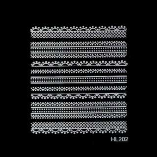 Wholesale New French Style 3D Lace Nail Art Sticker  30 different