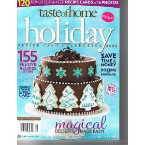 Taste of Home Holiday Recipe Card Collection 2009 (155 Festive Recipes