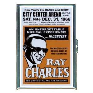 RAY CHARLES RETRO POSTER ID Holder, Cigarette Case or Wallet: MADE IN