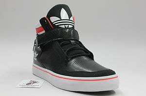 ADIDAS ORIGINAL MEN ADI RISE MID SHOES NEW NIB RETRO BLACK WHITE