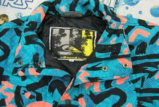 vtg QUIKSILVER Wild Pattern 90s SNOWBOARD JACKET Youth size 16 skiing