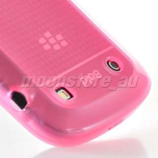 SILICONE CASE COVER + SCREEN FOR BLACKBERRY 9900 BOLD BABYPINK