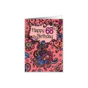 Happy Birthday   Mendhi   68 years old Card: Toys & Games