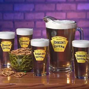 Yellow Tavern Beer Set (1 Pitcher & 4 Glasses) Kitchen & Dining