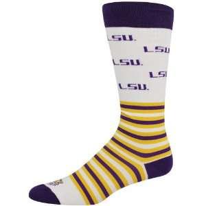 NCAA LSU Tigers White Striped Logo Tube Socks