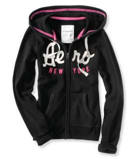 Aeropostale womens New York embroidered full zip hoodie   Style 7362