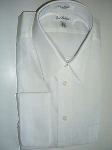 371 PAUL FREDRICK White Cotton French Cuff Mens Dress Shirts Size XL