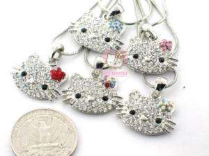 4pcs Fashion style Alloy hello Kitty cat necklace H13