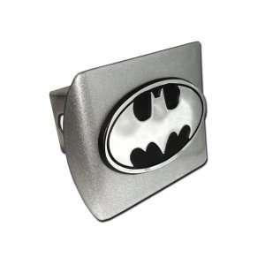 Batman Brushed Silver with Oval Chrome Bat Emblem Metal Trailer