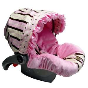 Baby Bella Maya Infant Car Seat Cover Pixie Stix Mesh Ruffle Baby