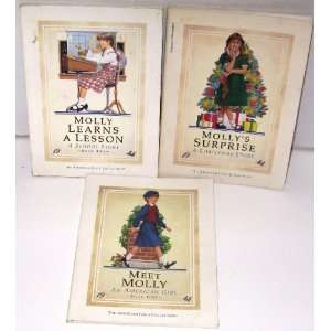 American Girl ~ MOLLY ~ Set of 3 Books (Meet, Learns a Lesson, Suprise
