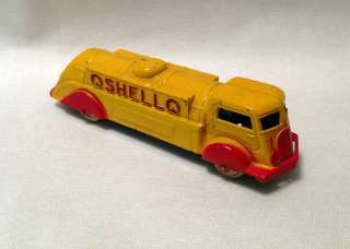 Vintage Diecast 1939 41 Tootsietoy #1009 Shell Oil Tanker Truck