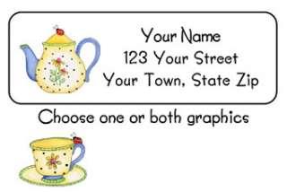 personalized cutest little ladybug teapot address labels