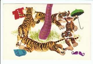 Sambos Restaurants Sambo Tigers Tiger Ad Old Postcard Vintage Sambos
