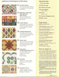 Newsletter Magazine April 2007 No 391 ~ Paper Piecing Curves & More