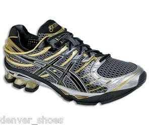 Gel Kinetic 4 T133N7490 Gray Black Gold Running Sneakers Shoes 9   11
