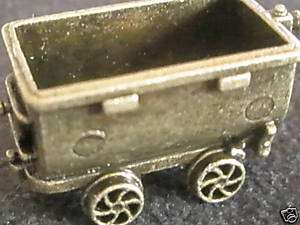 JONES MINI FIGURINE RAILROAD MINE CAR REPLICA MONOPOLY TOKEN