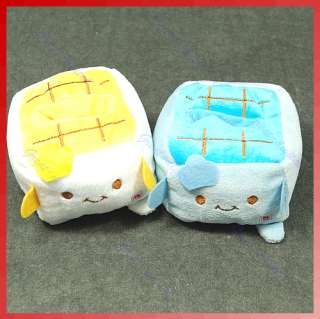 Cute Tofu Plush Mobile Phone Protect Block Holder Seat