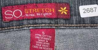 So sz 5 x 31 Stretch Womens Juniors Gray Jeans Denim Pants FL93
