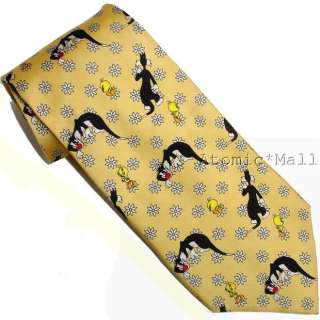 Necktie Looney Tunes Tweety Bird & Sylvester The Cat