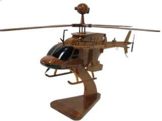 ARMY OH 58D KIOWA WARRIOR SCOUT ATTACK WOODEN WOOD HELICOPTER MODEL
