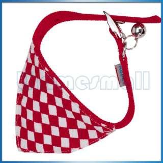Pet Dog Cat Bandana Collar Neck Scarf Neckerchief w/ Jingle Bell